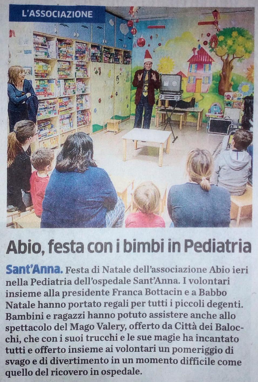 """Quotidiano """"La Provincia"""" del 14/12/2018"""