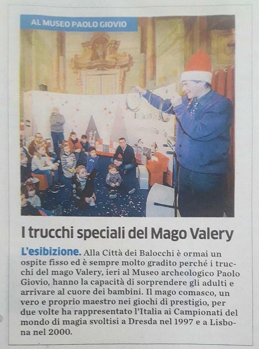 """Quotidiano """"La Provincia"""" del 17/12/2018"""
